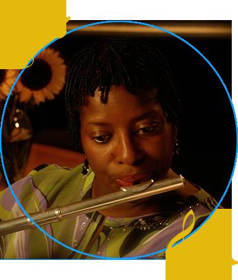 Cheryl Keyes With Flute